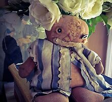 Flea Market Doll and White Roses by Barbara Wyeth