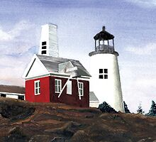 """Pemaquid Lighthouse- Bristol, Maine"" by Dennis Knecht"
