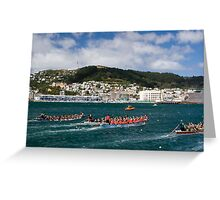 Annual Dragonboat races, Wellington Greeting Card