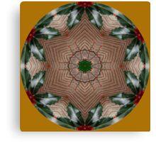 Holly Star..Kaleidoscope Canvas Print