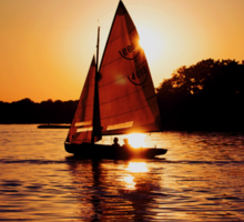 Sailing Silhouettes Sticker