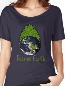 Peas on Earth - Cartoony Women's Relaxed Fit T-Shirt