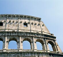 Detail of Colosseum (Colosseo) in Rome, Italy  by Petr Svarc