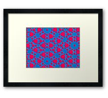 Silicon Atoms Red Blue CU Framed Print