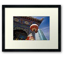 Skyscraper and Pagoda, Kunming, Yunnan, China  Framed Print