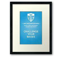 Challenge Your Biases Framed Print