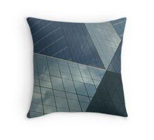 Urban Reflections - CAT Building 1 Throw Pillow