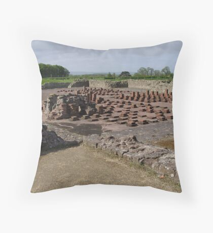 Wroxeter Roman Town Ruins...The Baths section. Throw Pillow