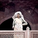 Indian Woman Gazing Out - Humayans Tomb by eyesoftheeast