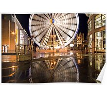 Manchester Wheel Reflection Poster
