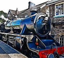 Redfield Steam Train by Trevor Kersley