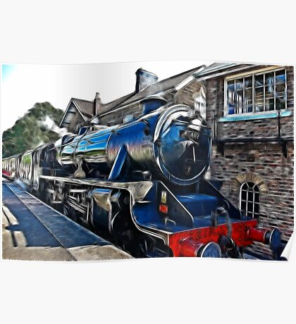 Redfield Steam Train Poster