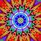 Kaleidoscope art on cards