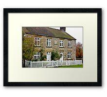 Cottages  c1892 Old Byland-North Yorkshire. Framed Print