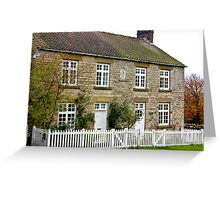 Cottages  c1892 Old Byland-North Yorkshire. Greeting Card
