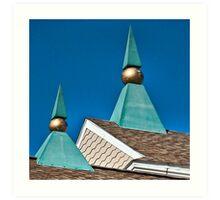 Triangles and Balls Art Print