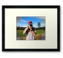 The Photographer... Framed Print