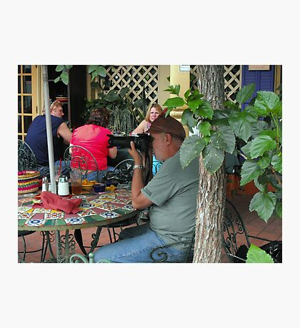 Crowd-Watching at Cinco de Mayo Photographic Print
