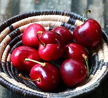 Red cherries by Dipali S