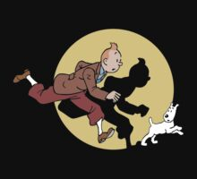 tintin and dog snowy adventure by Hishoutt