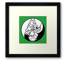 TMNT - Yin Yang - Splinter & Shredder 01 - White Framed Print