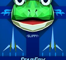 Star Fox - Slippy Toad Propaganda Style Print by SuchPsycho