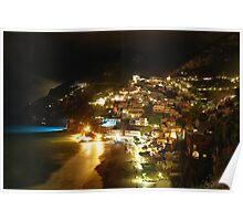 Positano Night-scape Poster