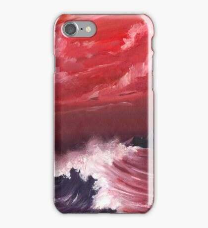 Ocean - turbulent sea scape iPhone Case/Skin