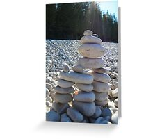Cairn #2.  Because Andy Goldsworthy rocks (see what I did there?) Greeting Card