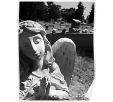 Silent Angel, Black and White Poster