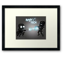 Magic Vs Tech Framed Print