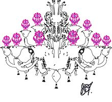 Chandelier White Pink by greggtf