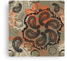 Spicy Paisley Canvas Print