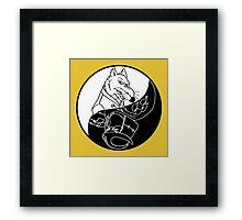 TMNT - Yin Yang - Splinter & Shredder 03 - White Framed Print