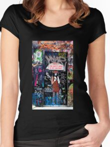Clever Graffiti Women's Fitted Scoop T-Shirt