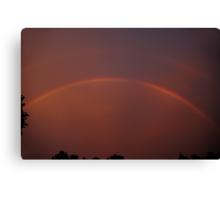 Storm's End - 3 Sunset Rainbow Canvas Print