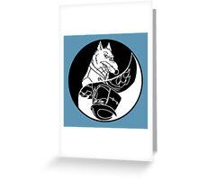 TMNT - Yin Yang - Splinter & Shredder 04 - Black Greeting Card