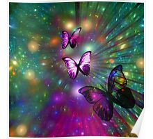 A Butterflys Forever Fractal Poster