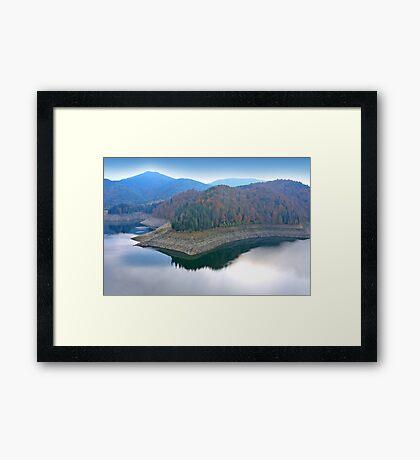 Blue mirror lake. Framed Print