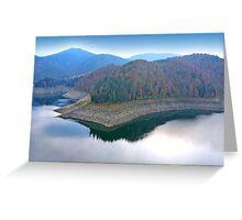 Blue mirror lake. Greeting Card