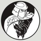 TMNT - Yin Yang - Shredder & Splinter 02 - Black by DGArt