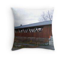 River walk Bridge in Littleton NH Throw Pillow
