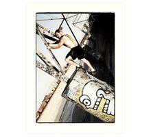 Pylon climbing Art Print