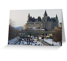 Skaters on the Ottawa Canal Greeting Card
