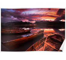 Sunset on Derwent Water, The Lake District Poster