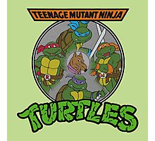 TMNT - Sewer Lid Four Turtles with Splinter  Photographic Print