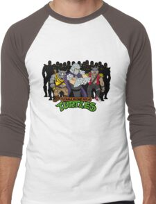 TMNT - Foot Soldiers with Shredder, Bebop & Rocksteady - Teenage Mutant Ninja Turtles Men's Baseball ¾ T-Shirt