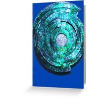 Blue/Aqua/Green Shield-t Greeting Card