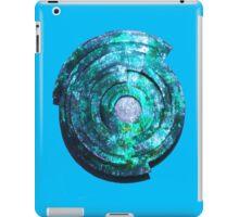Blue/Aqua/Green Shield-t iPad Case/Skin