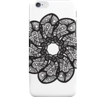Black Flower Paisley iPhone Case/Skin